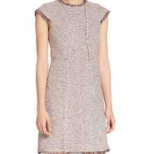 Rebecca Taylor Tweed Nude Combo Dress,  sz 2